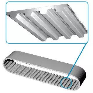 Zahnriemen Polyurethan PU mit Stahlzugträgern T10 1780 mm 178 Zähne 10-50 Breit